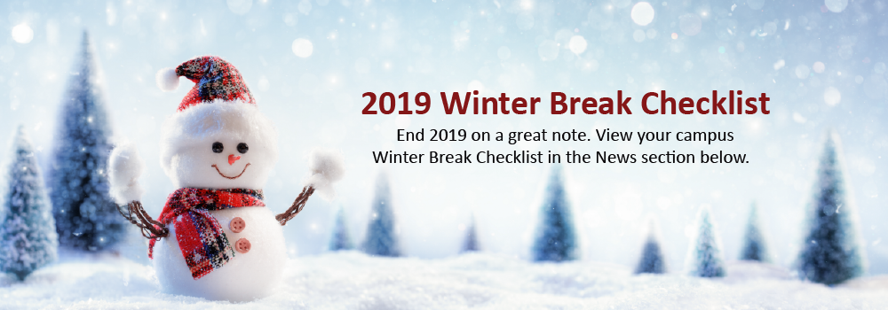 2019 Winter Break Checklist