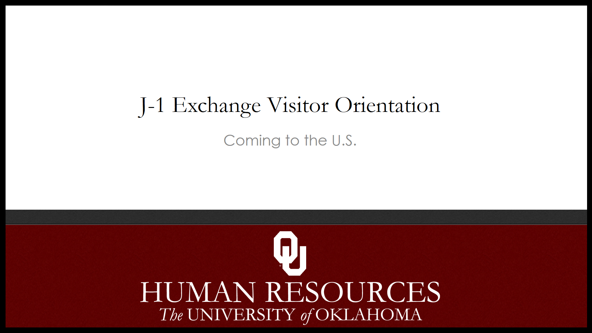 J 1 exchange visitor ou human resources click the image above to view the j 1 online orientation page the j 1 online orientation contains vital information about the j 1 exchange visitor program xflitez Choice Image