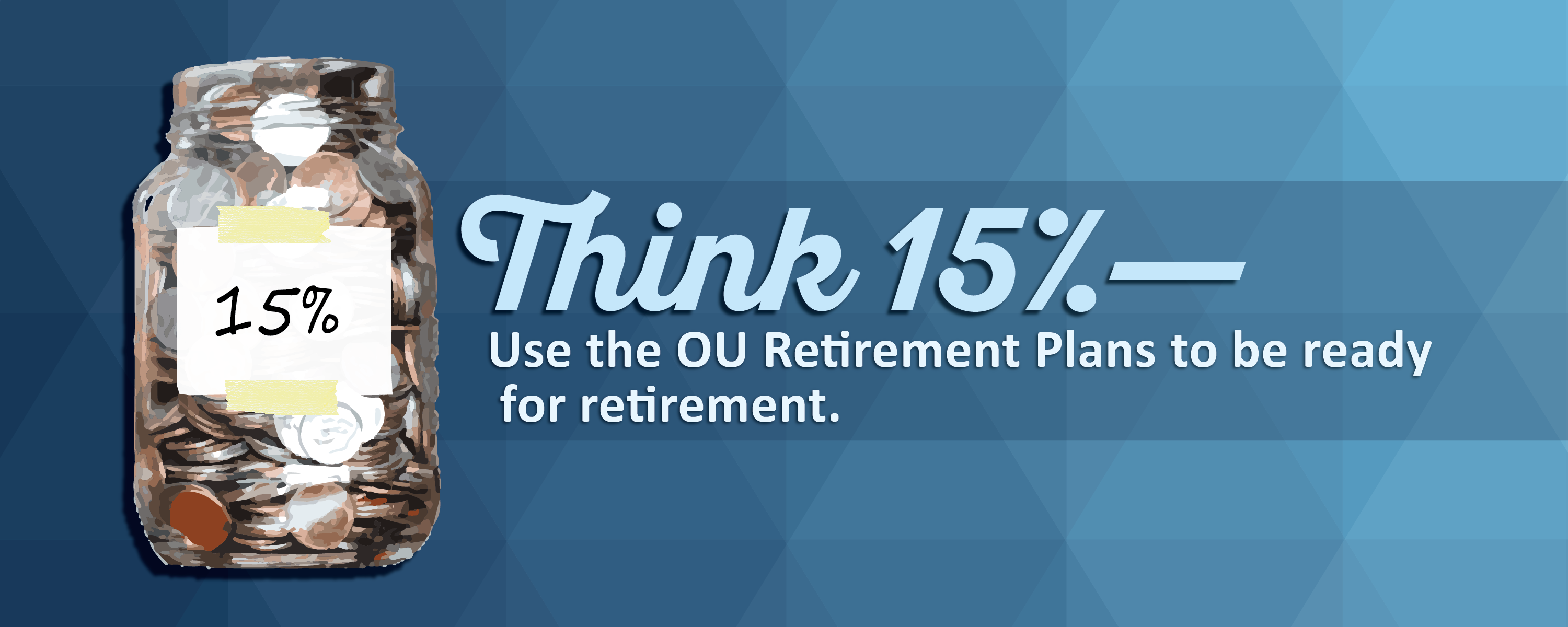 Think 15% with OU Retirement Plans